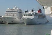 w Wenecji statki wycieczkowe MSC Musica i Zenith - Venice cruise ships MSC Musica, and Zenith