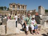 Biblioteka Celsusa w starożytnym mieście Efez - Library of Celsus in the ancient city of Ephesus
