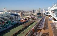 Izmir w Turcji panorama miasta i portu - Izmir in Turkey panorama of the city and harbor