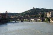 rzeka Adyga i most Piotra w Weronie - Adige river and the bridge of Peter of Verona